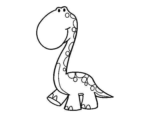 Disegno di Dino da Colorare
