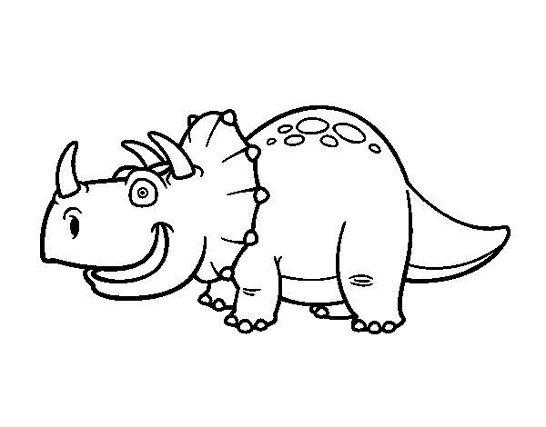 Disegno di Dinosauro Triceratopo da Colorare