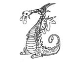 Disegno di Drago con il fumo da colorare