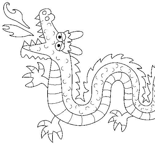 Disegno di Drago sputa fuoco II da Colorare