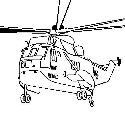 Elicottero Disegno : Disegno di elicottero salvataggio da colorare acolore