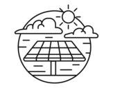 Disegno di Energia solare da colorare