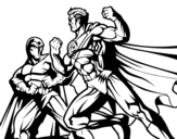 Disegno di Eroe e cattivo combattimento da colorare