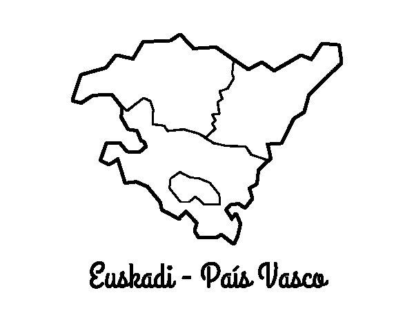 Disegno di Euskadi  da Colorare