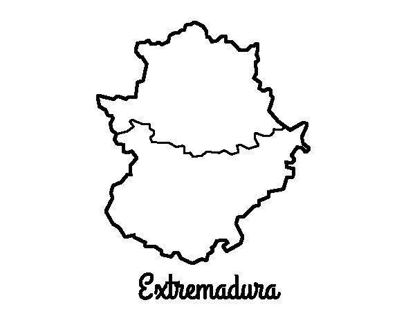 Disegno di Extremadura da Colorare