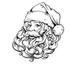 Disegno di Faccia di Babbo Natale per Natale da colorare