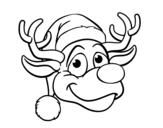 Disegno di Faccia di renna Rudolph da colorare