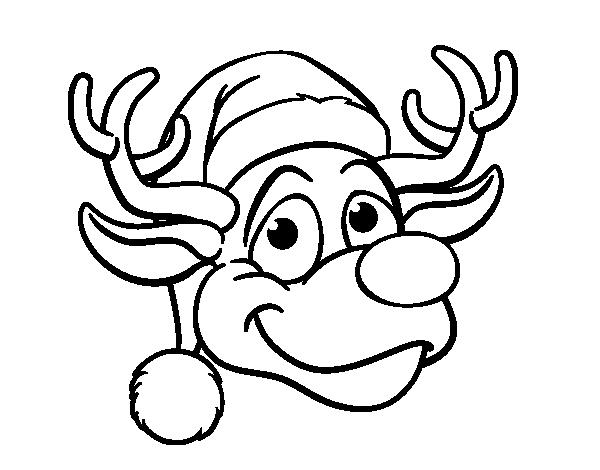 Disegno di faccia di renna rudolph da colorare for Disfare la valigia in inglese