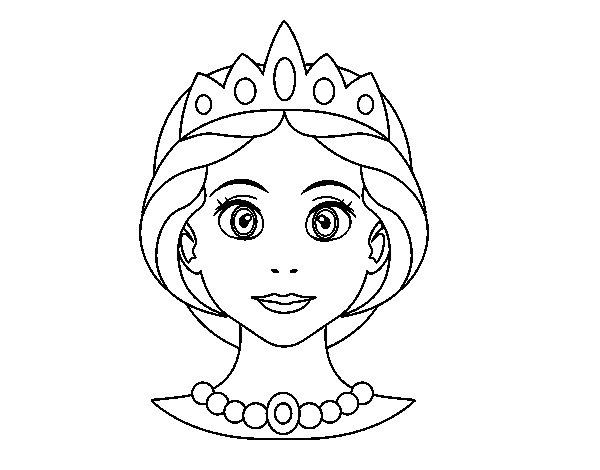 Disegno di Faccia principessa da Colorare