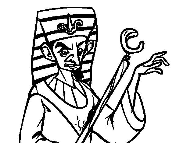 Disegno di Faraone arrabbiato da Colorare