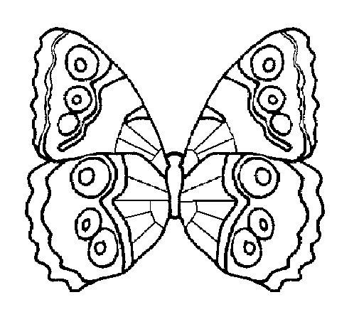 Disegno Di Farfalla 1a Da Colorare