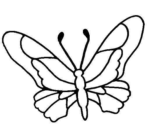 Disegno Di Farfalla 6a Da Colorare