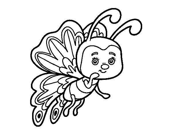 Disegno di Farfalla civettuola da Colorare