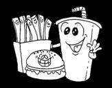 Disegno di Fast food da colorare