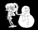 Disegno di Fata della neve da colorare