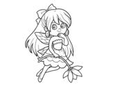 Disegno di  Fata fiore da colorare