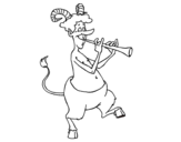 Disegno di Fauno che suona il flauto da colorare