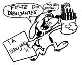 Disegno di Felice giorno fumetti da colorare