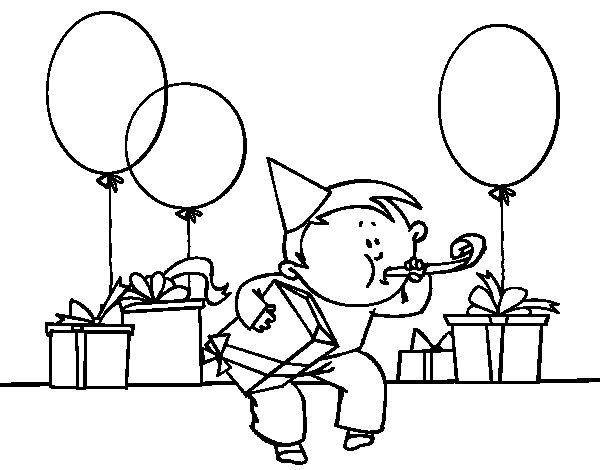 Disegno di Festa di compleanno da Colorare