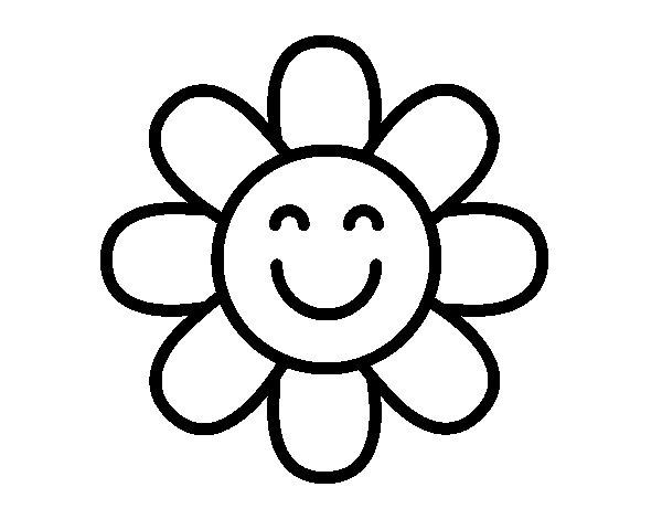 Disegno Di Rosa Con Foglie Da Colorare Acolore Com: Disegno Di Fiore Semplice Da Colorare