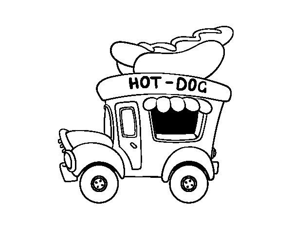Disegno di Food truck di hot dog da Colorare