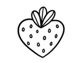 Disegno di Fragola cuore da colorare