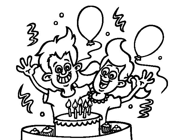 Disegno Di Fratelli Compleanno Da Colorare Acolore Com