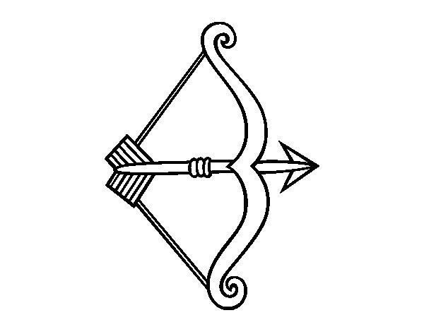 Disegno di Freccia con arco da Colorare