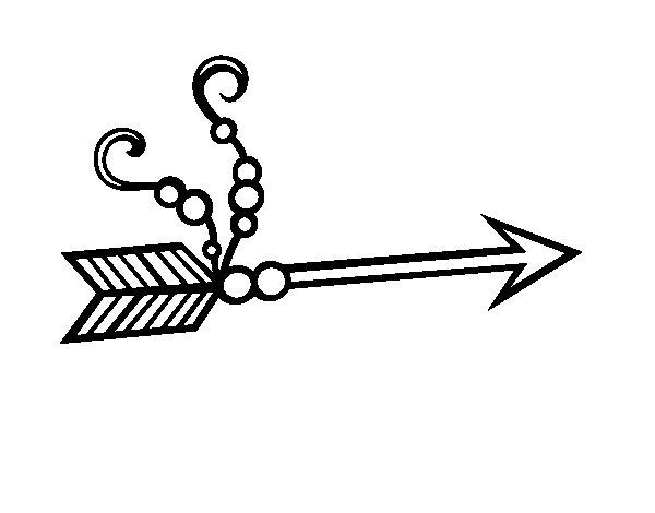 Disegno di Freccia indiana da Colorare