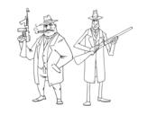 Disegno di Gangsters da colorare