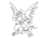 Disegno di Garuda da colorare