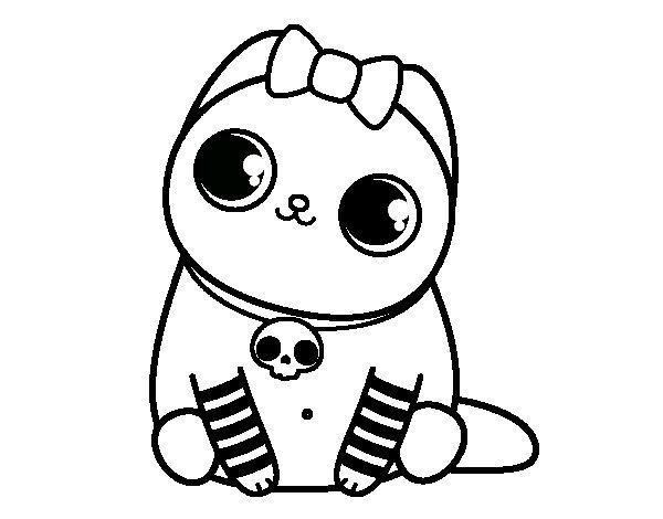 Disegno di Gattino emo da Colorare - Acolore.com