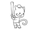 Disegno di Gatto battitore da colorare
