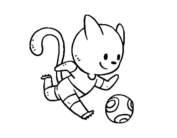Disegno di gatto calcio da colorare for Disfare la valigia in inglese