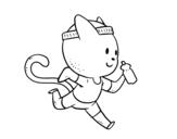 Disegno di Gatto runner da colorare