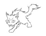 Disegno di Gatto Yule da colorare