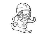 Dibujo de Giocatore di football americano