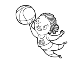 Disegno di Giocatore di pallavolo da colorare