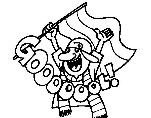 Disegno di Gooooool! da Colorare