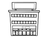 Disegno di Grande magazzino da colorare