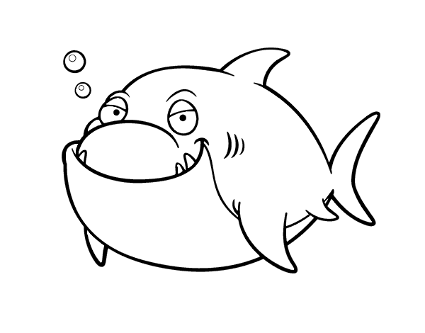 Disegno di grande squalo bianco da colorare for Disegno squalo