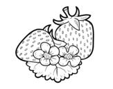 Disegno di Grandi fragole da colorare