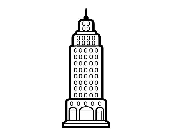 Disegno Di Grattacielo Da Colorare