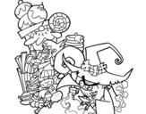Disegno di Gretel e la strega da colorare