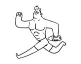 Disegno di Guardia di vita corsa da colorare