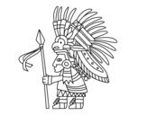 Disegno di Guerriero azteco da colorare