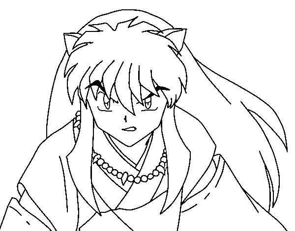 Disegno di guerriero inuyasha da colorare for Guerriero da colorare