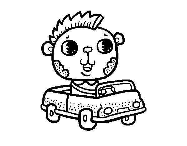 Disegno di Guidare un'auto decappottabile da Colorare