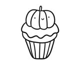 Disegno di Halloween cupcake da colorare