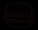 Disegno di Hamburger con lattuga da colorare